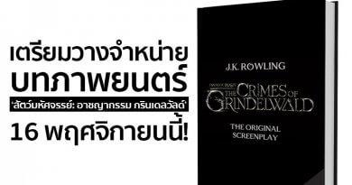 บทภาพยนตร์ 'สัตว์มหัศจรรย์: อาชญากรรม กรินเดลวัลด์' เตรียมวางจำหน่าย 16 พฤศจิกายนนี้ !