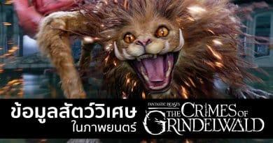 """ข้อมูลสัตว์วิเศษ ใน """"สัตว์มหัศจรรย์: อาชญากรรมของกรินเดลวัลด์"""" !!"""